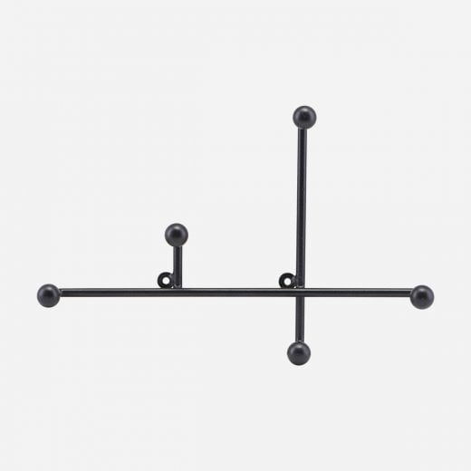 House Doctor Metal Coat Rack - Matt Black