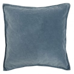 Ib Laursen Cushion Cover in Velvet Colonial Blue