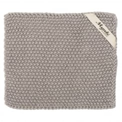 Ib Laursen Knitted Pot Holder In French Grey