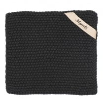 Ib Laursen Knitted Pot Holder In Pure Black