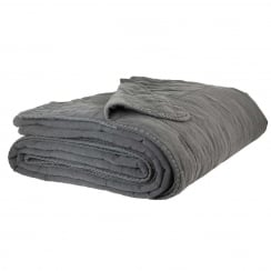 Ib Laursen Quilted Bedspread - Dark Grey