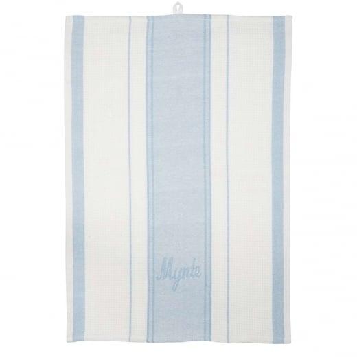 Ib Laursen Tea Towel With Waffle Stripes - Blue