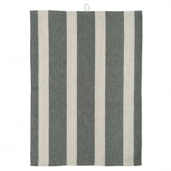 Ib Laursen Tea Towel With Wide Black Stripes