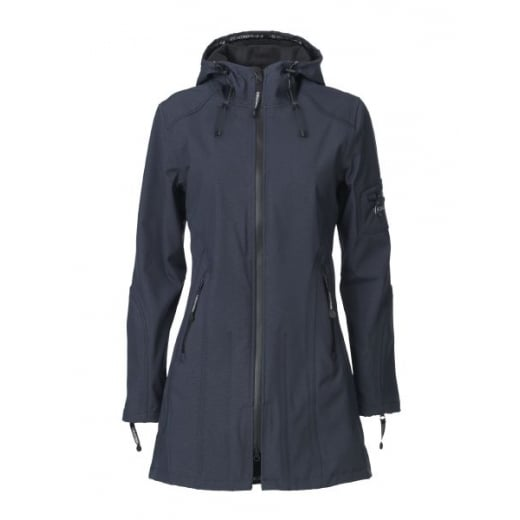 Ilse Jacobsen 3/4 Raincoat - Indigo