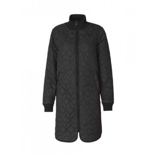 Ilse Jacobsen Black Padded Quilt Coat
