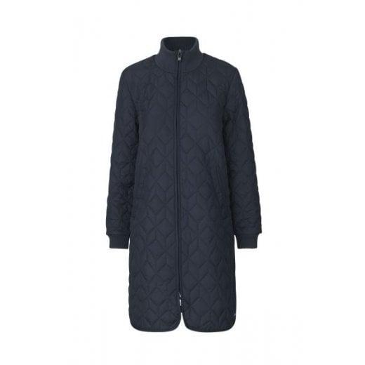 Ilse Jacobsen Dark Navy Padded Quilt Coat