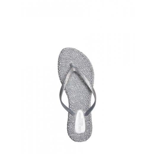 Ilse Jacobsen Glitter Flip Flop - Silver