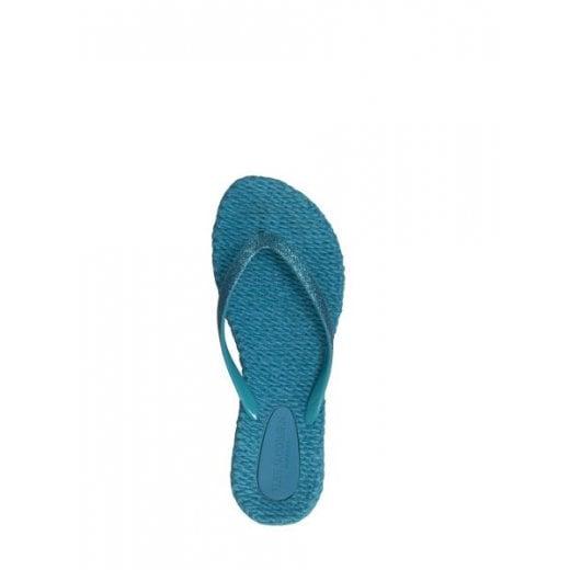 Glitter Flip Flop - Viridian Green