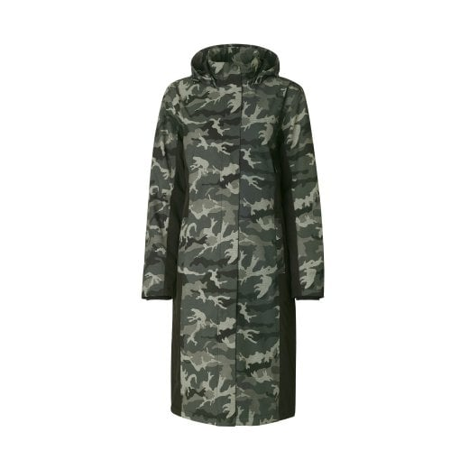 Ilse Jacobsen Rain Coat Long - Camouflage
