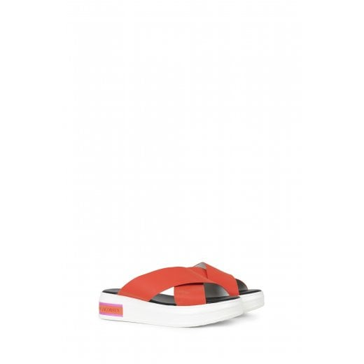 Ilse Jacobsen Slip on Sandals - Deep Red