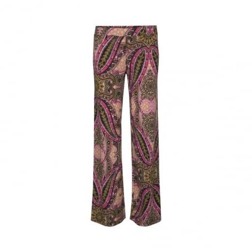 Ilse Jacobsen Wide Leg Trouser in Paisley Print