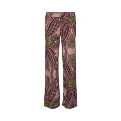 Ilse Jacobsen Wide Leg Trouser in Paisley Print