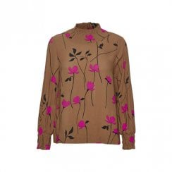 InWear Pearla Blouse- Brown/Pink