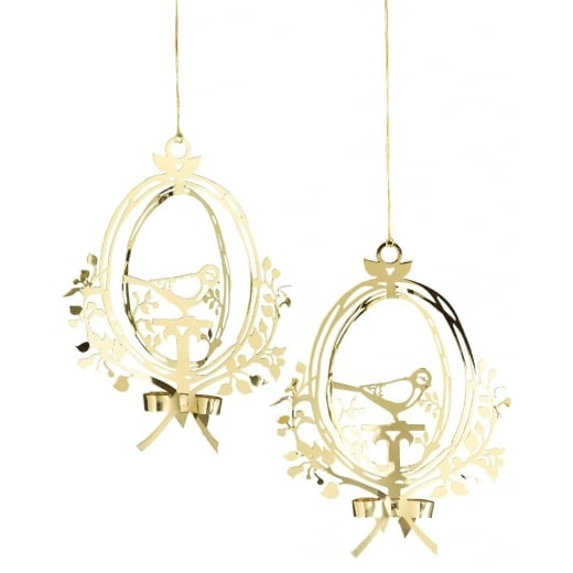 Gold Bird Christmas Tree Decorations : Jette frolich bird ornaments gold from