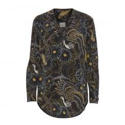 Julie Fagerholt Mika Shirt - Peacock Print