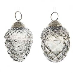 Danish Collection Glass Pinecones