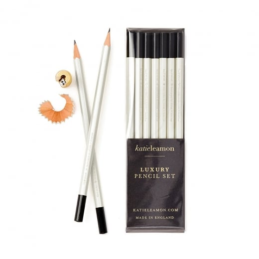 Katie Leamon Pale Grey HB Pencil Set