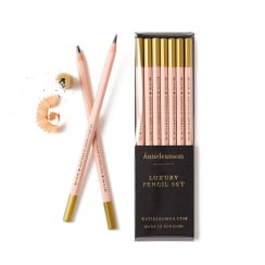 Katie Leamon Pale Pink Pencil Set