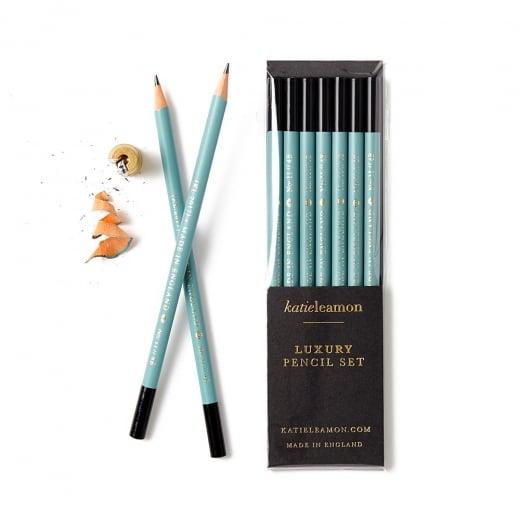 Katie Leamon Teal 4B Pencil Set