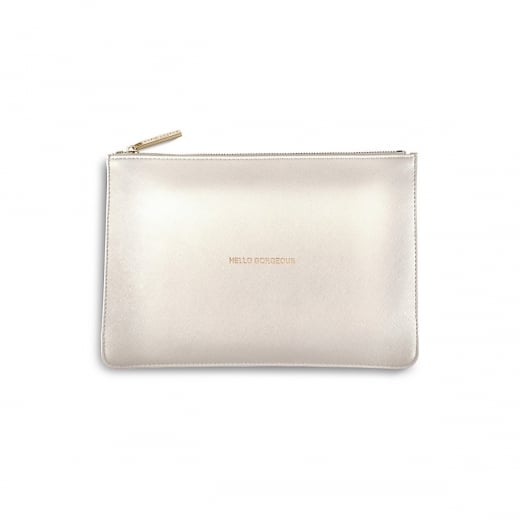 Katie Loxton Hello Gorgeous Perfect Pouch - Metallic White