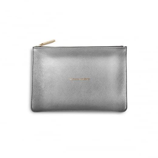 Katie Loxton Magical Moments Perfect Pouch - Metallic Charcoal