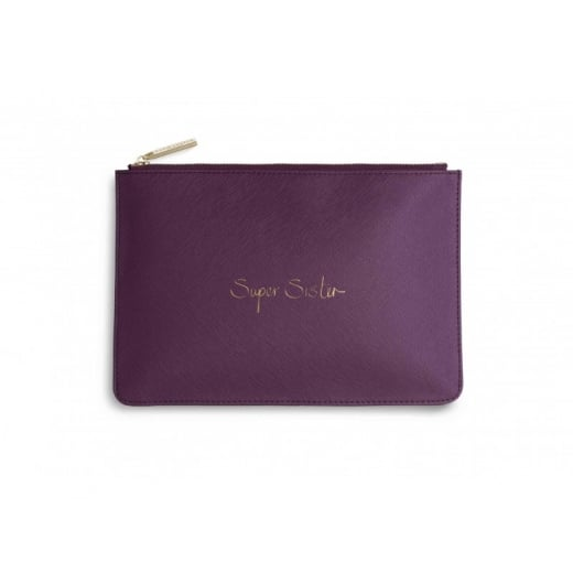 "Katie Loxton Perfect Pouch ""SUPER SISTER"""