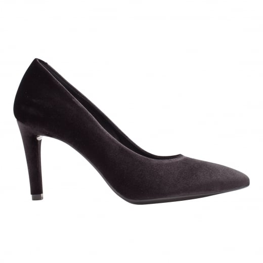 LBDK Black Velvet Heels - 7cm