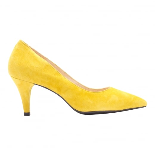 LBDK Empire Yellow Suede Heels - 6cm
