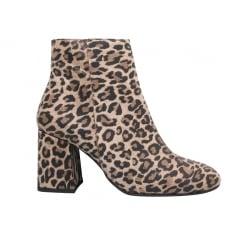 LBDK Leopard Suede Boots - Block Heel