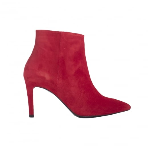 LBDK Red Suede Boots - 8cm Heel