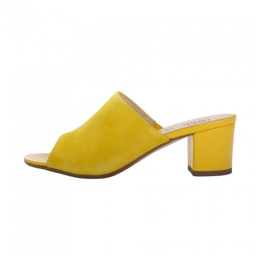 LBDK Sandal with Block Heel - Yellow