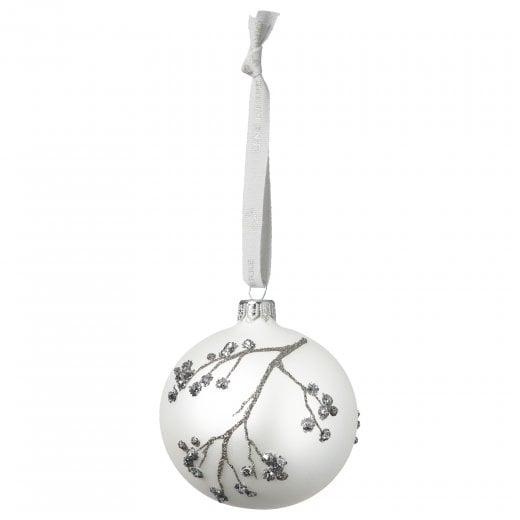 Lene Bjerre Cadelia Glass Bauble - White