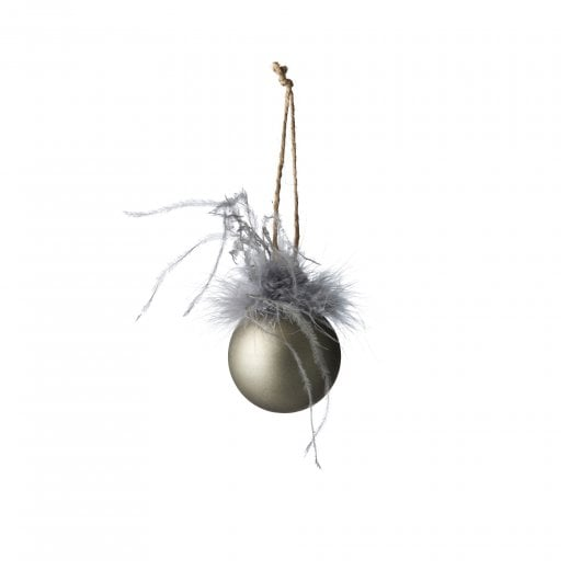 Lene Bjerre Fethia Glass Bauble - Silver