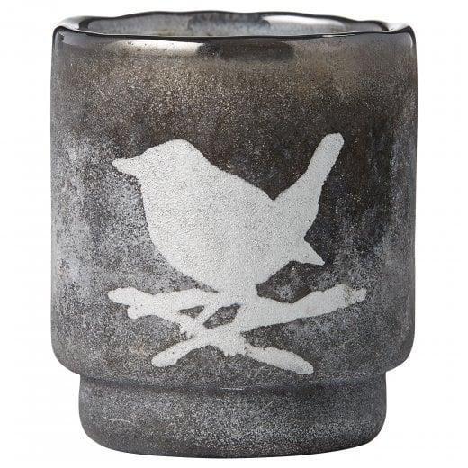 Lene Bjerre Frostine Candle Holder - Smoked Grey