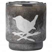 Lene Bjerre Frostine Candle Holder - Smoked Grey