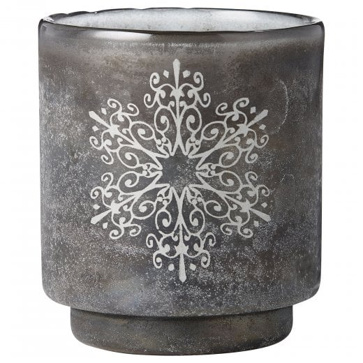 Lene Bjerre Large Frostine Candle Holder - Smoked Grey