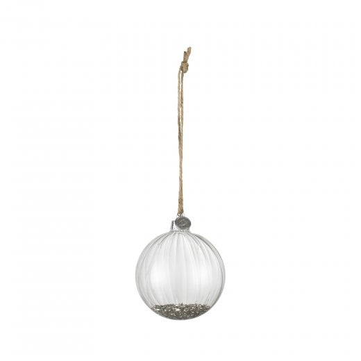 Lene Bjerre Large Meryse Glass Bauble - Clear