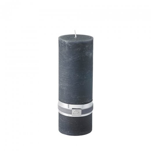 Lene Bjerre Large Rustic Candle - Dark Grey