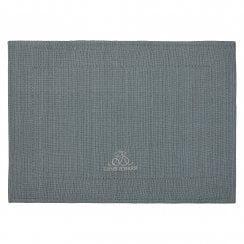 Lene Bjerre MERCY Placemat hemstitch 48x34cm GREY BLUE