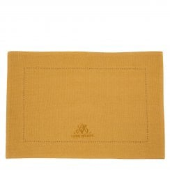 Lene Bjerre MERCY Placemat hemstitch 48x34cm Spruce Yellow