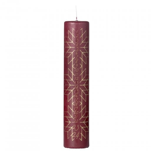 Lene Bjerre Nordic Calendar Candle - Pomegranate