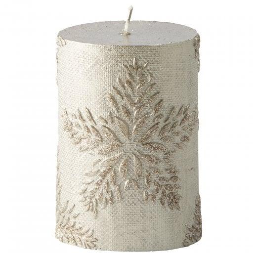 Lene Bjerre Nordic Pillar Candle - Silver