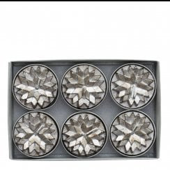 Lene Bjerre Nordic Tealight Candles - Antique Silver