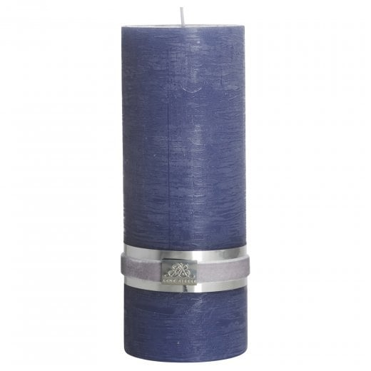 Lene Bjerre Rustic Candle Large - Blue H20cm