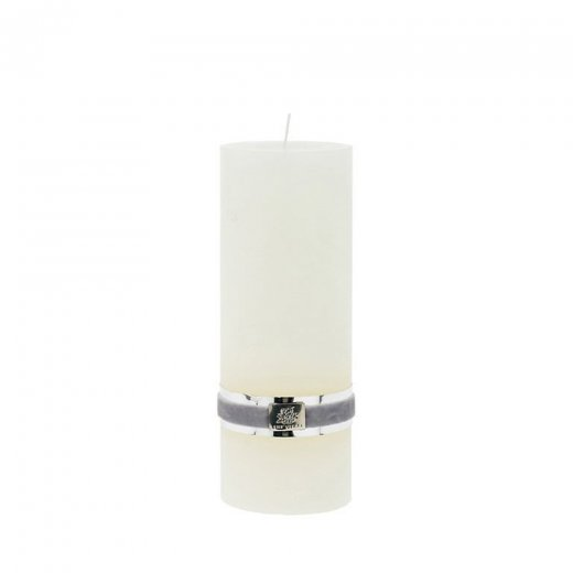 Lene Bjerre Rustic Candle Large Off White H20cm