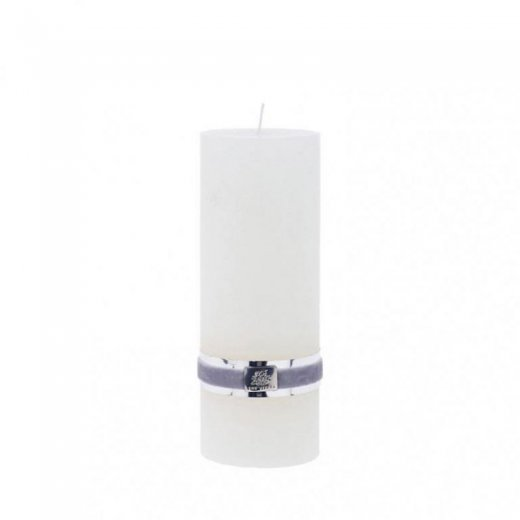 Lene Bjerre Rustic Candle Large White H20cm