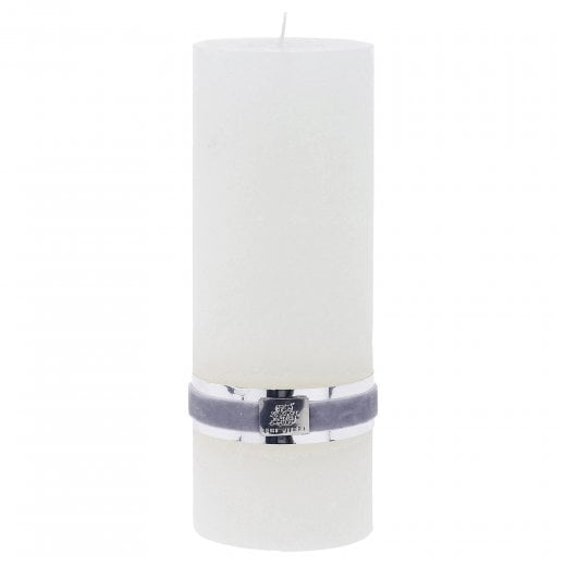 Lene Bjerre Rustic Candle Large - White H20cm