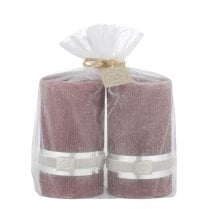 Lene Bjerre Rustic Candle Medium GIFT SET/2 Pomegranate H12.5cm