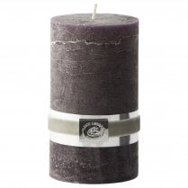 Lene Bjerre Rustic Candle Medium Nightshade/Brown H12.5CM