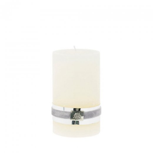 Lene Bjerre Rustic Candle Medium Off White H12.5CM